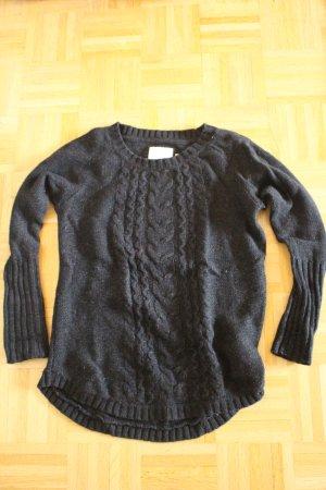 H&M L.O.G.G. Gebreide trui zwart Wol