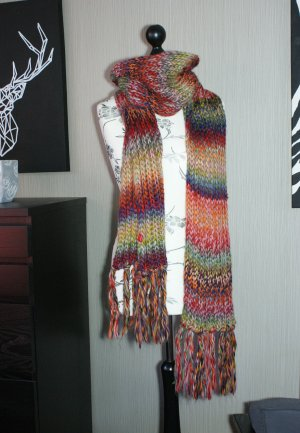 s.Oliver Knitted Scarf multicolored