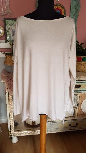 Jersey largo blanco puro-crema