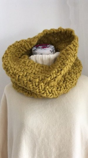Hooded Scarf sand brown