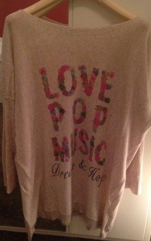Kuscheliger LOVE POP MUSIC Print Pullover