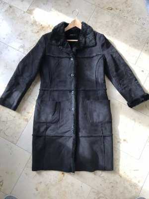 s.Oliver Fake Fur Coat black