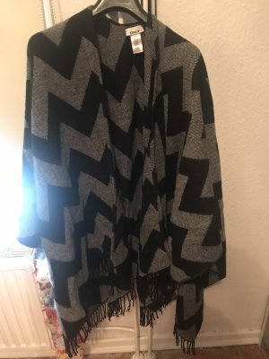 Only Poncho black-grey