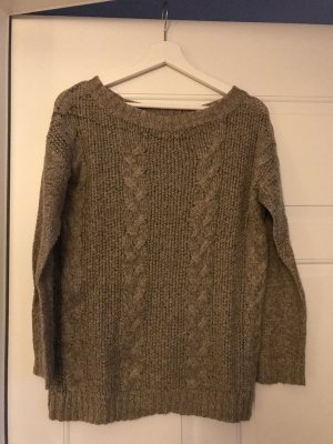 Vila Cable Sweater light brown