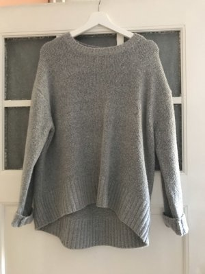 Zara Knit Maglione lungo grigio