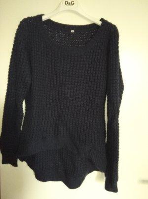 Coarse Knitted Sweater blue-dark blue