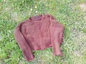 Zara Knit Pull à gosses mailles brun