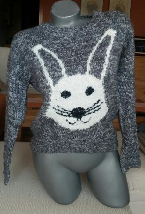Kuscheliger Pullover, grau, Gr. S