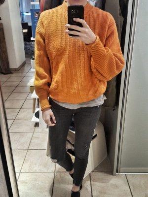 H&M Pull orange-orange fluo