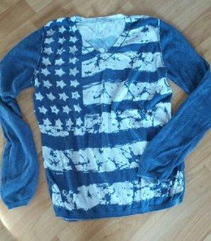 Kuscheliger Pullover Pulli blau weiß Katestorm