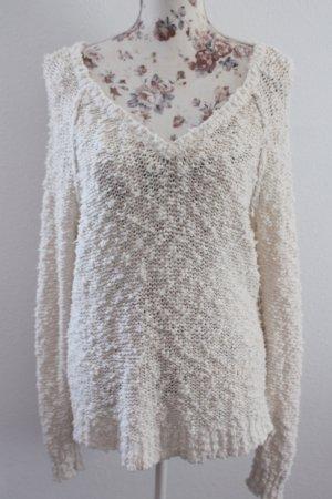 Abercrombie & Fitch Maglione oversize bianco sporco-beige chiaro
