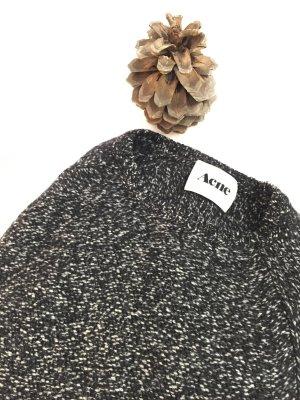 Acne Jersey de lana negro-blanco Lana