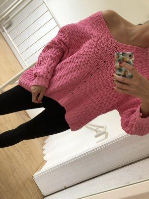 H&M Pull en crochet rose