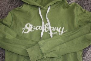 H&M L.O.G.G. Hooded Sweater grass green