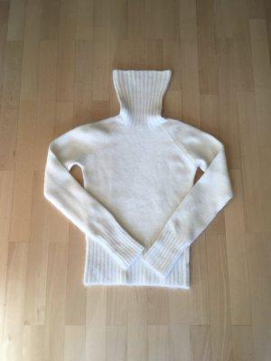 Mango Pull-over à col roulé blanc cassé laine angora