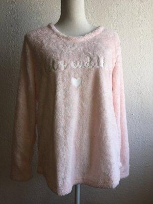 Kuscheliger rosa Fleece Pullover von Hunkemöller