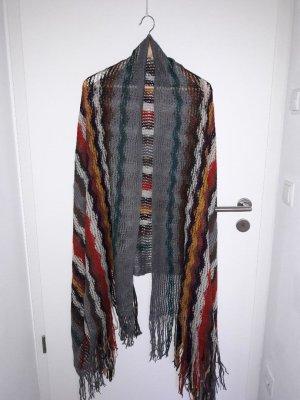 Tom Tailor Bufanda de punto multicolor tejido mezclado
