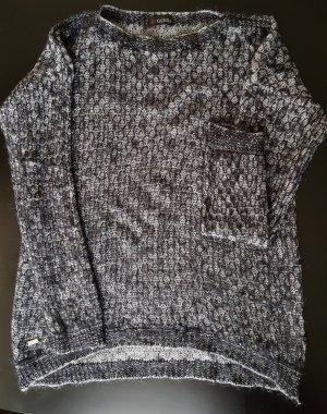 Guess Maglione lavorato a maglia nero-grigio chiaro