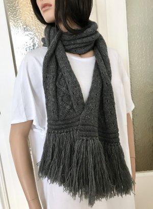 Marc Cain Woolen Scarf grey wool