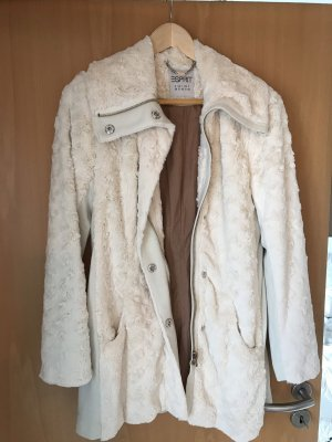Esprit Short Coat natural white-oatmeal