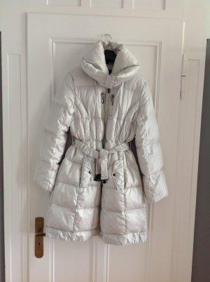Abrigo de plumón blanco puro