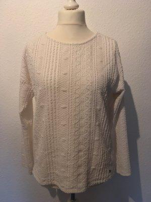Kuscheliger, weißer Pullover von Street One in 40