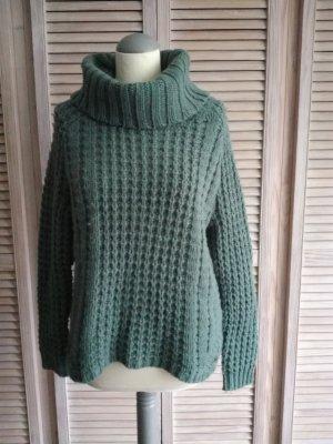 Kuscheliger Woll-Grobstrick-Pullover mit Mohair und Alpaka