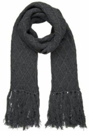 Kuscheliger Woll- Schal in grau mit Fransen