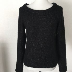 de.corp by Esprit Wool Sweater black-silver-colored