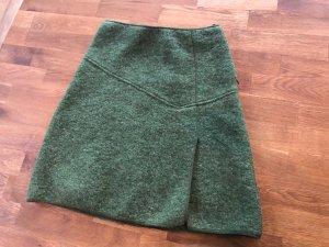 Waschbär Wool Skirt dark green-forest green