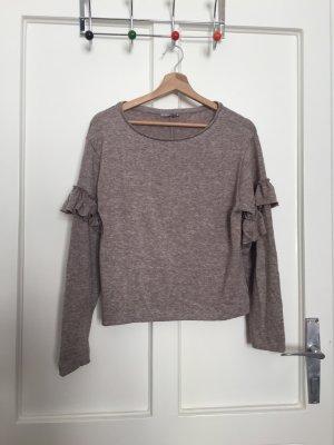 Zara Jersey de cuello redondo beige