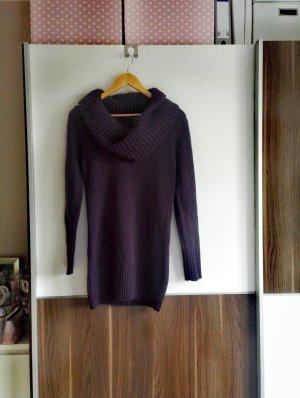 Kuscheliges Pulloverkleid mit Wasserfallkragen