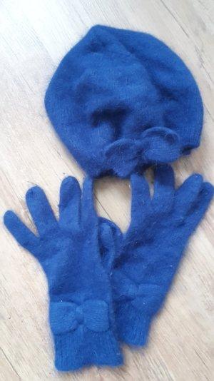 Kuscheliges Winterset aus Mütze und Handschuhen