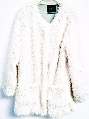 Essentials oui Fake Fur Jacket natural white