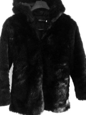 Giacca di pelliccia nero Poliestere