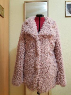 Oversized Jacket dusky pink polyester