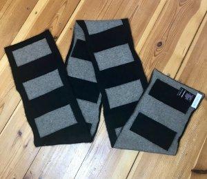 Turnover Sciarpa di lana marrone-grigio-marrone scuro Lana d'angora