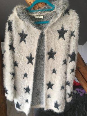 Miss Chic Manteau à capuche blanc-gris