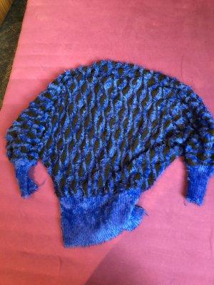 Wool Sweater black-blue