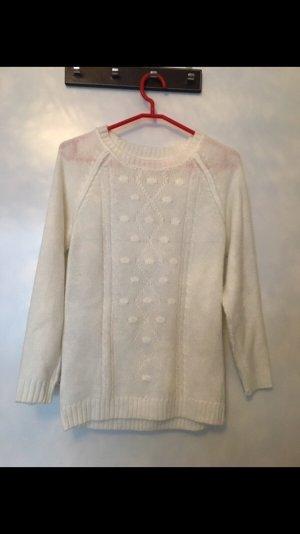H&M Jersey trenzado blanco