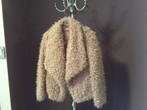 kuschelweiche warme Jacke in Puderrosa