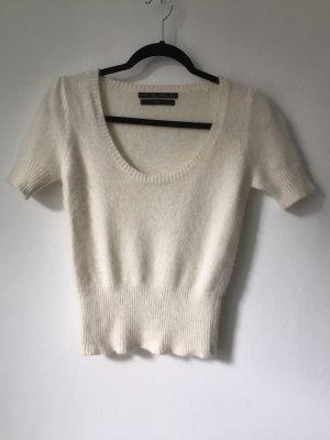 Zara Knit Short Sleeve Sweater natural white
