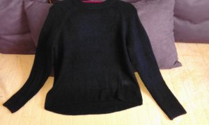 H&M Kraagloze sweater zwart