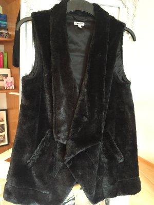 Kuschelweste in schwarz von DKNY Homewear