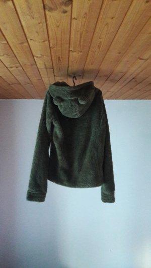 Hooded Vest khaki-olive green