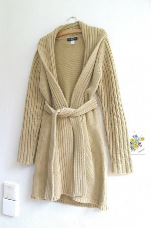 Elements Knitted Coat sand brown wool