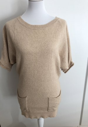 BCBG Maxazria Short Sleeve Sweater cream rayon