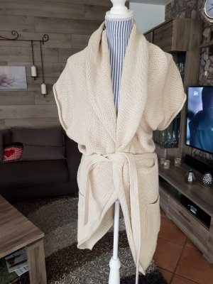 Kuschlige beige Strickjacke Gr. L Colours of the World