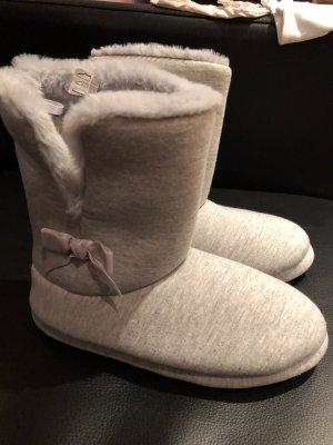 Zapatillas para casa gris claro-color plata