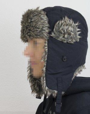 kuschlige Mütze/Kappe/Hut mit Fell-Imitat, paßt bis Kopfumfang 56 cm